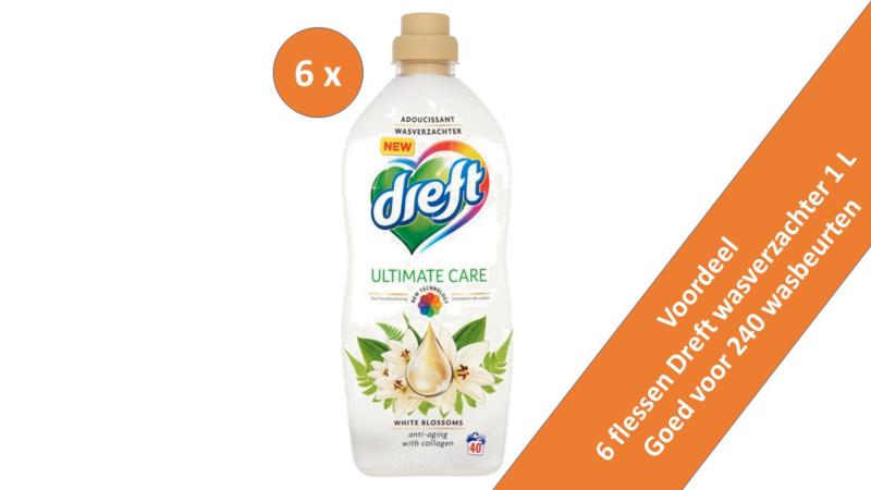 6 x Dreft Wasverzachter White Blossems fles 1liter.