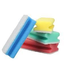 Schuurspons met greep / krasvrij diverse kleuren