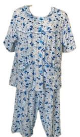 Fine woman Dames Shortama 2263 blauw UITVERKOOP