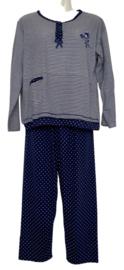 Fine woman Dames Pyjama 2218 donker blauw