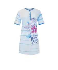 Fine woman Dames Nachthemd 6601 blauw