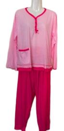 Fine woman Dames Pyjama 2270 fushia