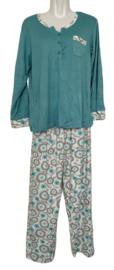 Fine woman Dames Pyjama 2309 groen