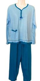 Fine woman Dames Pyjama 2270 blauw