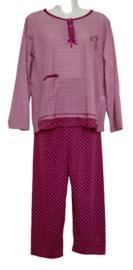Fine woman Dames Pyjama 2218 donker roze