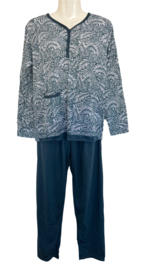 Fine woman Dames Pyjama 2217 marine
