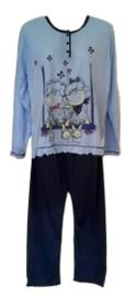 Dames Pyjama 317 blauw UITVERKOOP