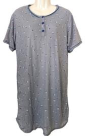 Fine woman Dames Nachthemd 6915 blauw