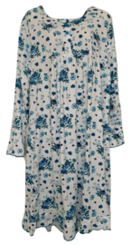 5 Dames Nachthemden 6917 blauw