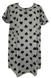 5 Dames Nachthemden 6872 zwart