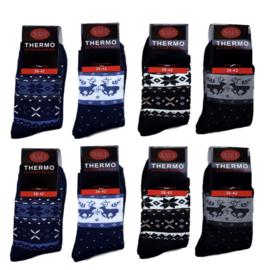 """24 paar  """"NAFT""""  Thermo sokken NAADLOOS  2-pack"""