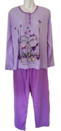 Dames Pyjama 317 paars UITVERKOOP