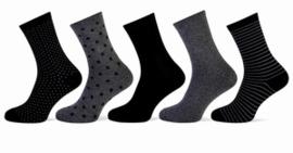 """Primair"" Dames sokken fantasy 5 pack"