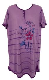 Fine woman Dames Nachthemd  6601 paars UITVERKOOP