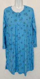 Fine woman Dames Nachthemd 9125 blauw