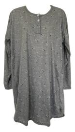 Fine woman Dames Nachthemd 6918 grijs-groen