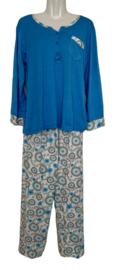 Fine woman Dames Pyjama 2309 blauw