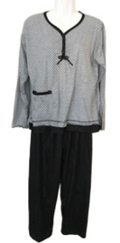 Fine woman Dames Pyjama 2270 zwart