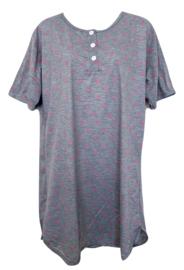 Fine woman Dames Nachthemd 6894 grijs-roze