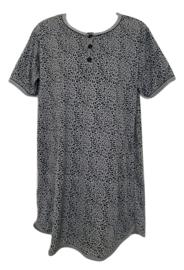 Fine woman Dames Nachthemd 6606 zwart