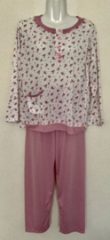Fine woman Dames Pyjama 2281 roze
