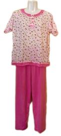Fine woman Dames Pyjama  2201 roze UITVERKOOP