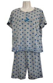 Fine woman Dames Shortama 2285 blauw