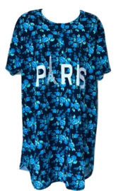 Fine woman Dames Nachthemd 6880 blauw