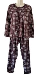 Fine woman Dames Pyjama 2215 aubergine