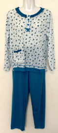 Fine woman Dames Pyjama 2281 mint blauw