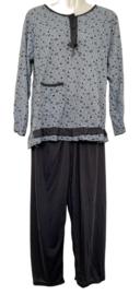 Fine woman Dames Pyjama 2282 grijs