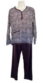 Fine woman Dames Pyjama 2217 aubergine