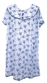 Fine woman Dames Nachthemd  6603 blauw