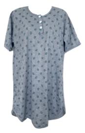 Fine woman Dames Nachthemd 6894 grijs-groen
