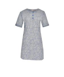 Fine woman Dames Nachthemd 6610 blauw