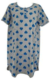 Fine woman Dames Nachthemd 6872 blauw