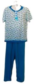 Fine woman Dames Pyjama 2201 blauw UITVERKOOP