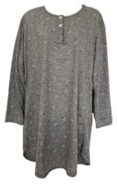 Fine woman Dames Nachthemden 6918 grijs-fushia