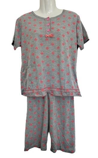 Fine woman Dames Shortama  2285 roze
