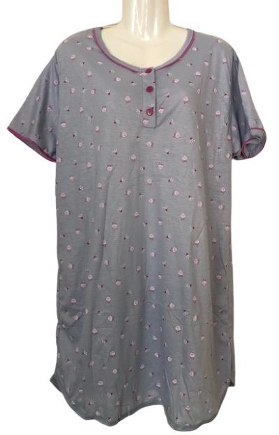 Fine woman Dames Nachthemd 6915 roze