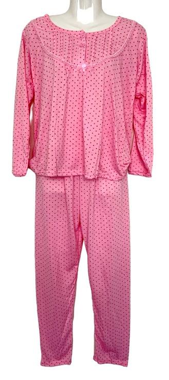 Fine woman Dames Pyjama 2288 roze UITVERKOOP