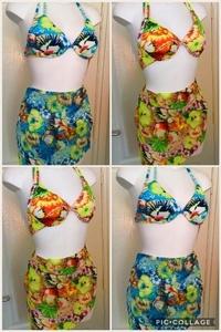 Dames/Tiener Bikini met parea 8665 UITVERKOOP