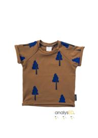 T-shirt Bruin Boompje