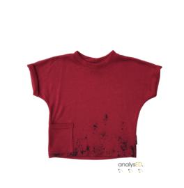 T-shirt Rood Spetter