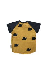 T-shirt Colourblock OkerGrijs
