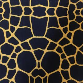 Stofkeuze Scrunchie Zwart Geel