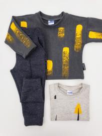 Sweater Vintage Grijs Verf
