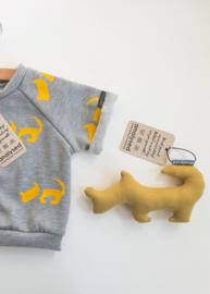 ShortSleeve Sweater Grijs Hond