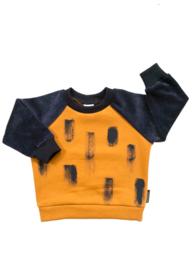 Sweater Oker en Velours Dark blue