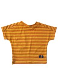 T-shirt Streep Oker Oranje